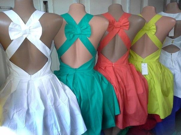 Как сшить девочке платье с открытой спиной 64